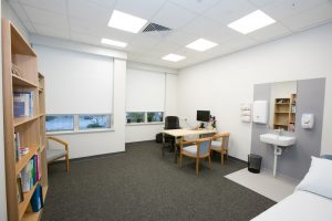 consulting room inside specialist clinics at blackwood hospital