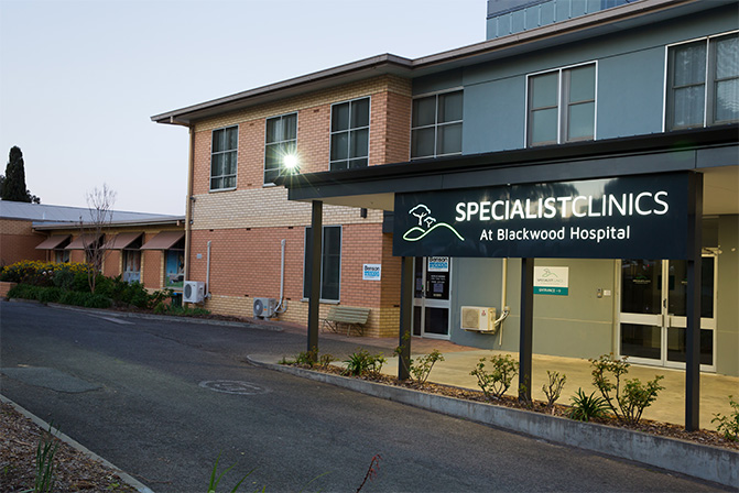 front specialist clinics at blackwood hospital