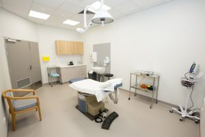 procedure room inside specialist clinics at blackwood hospital