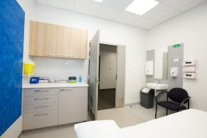 treatment room inside specialist clinics at blackwood hospital